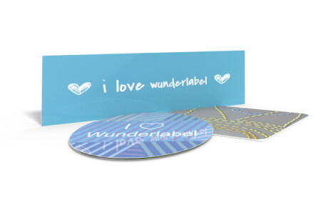 Sticker mit Text & Symbol
