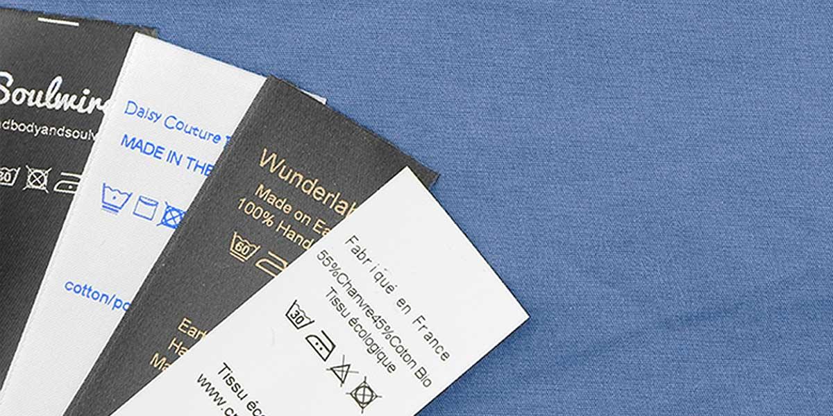 Professionelle Nähtechnik: Gemischte Textilpflegeetiketten