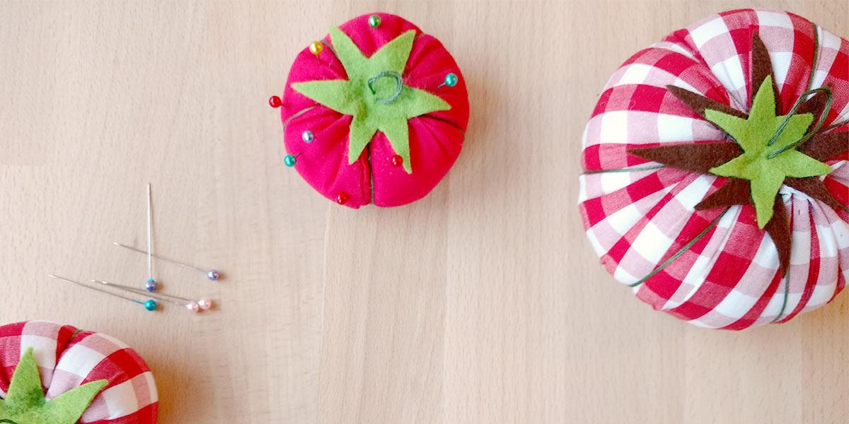 Selbstgemachtes Tomaten-Nadelkissen!