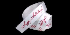 Bedrucktes Geschenkband mit Logo