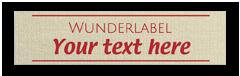Baumwolletiketten mit Text & Symbol