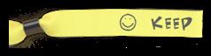Bedruckte Festivalbändchen - Text & Symbol