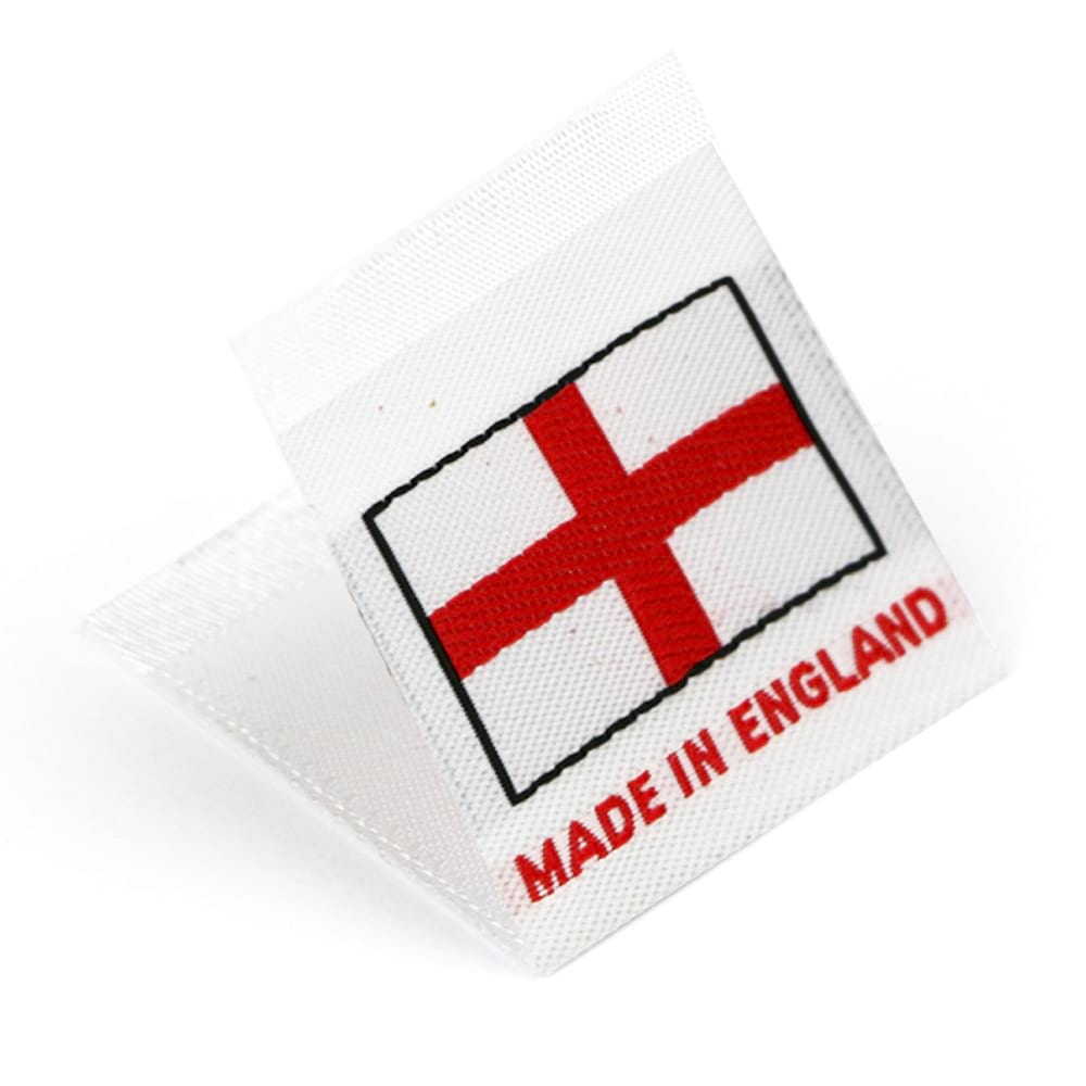 Gewebte Etiketten mit Flagge 'Made in England'
