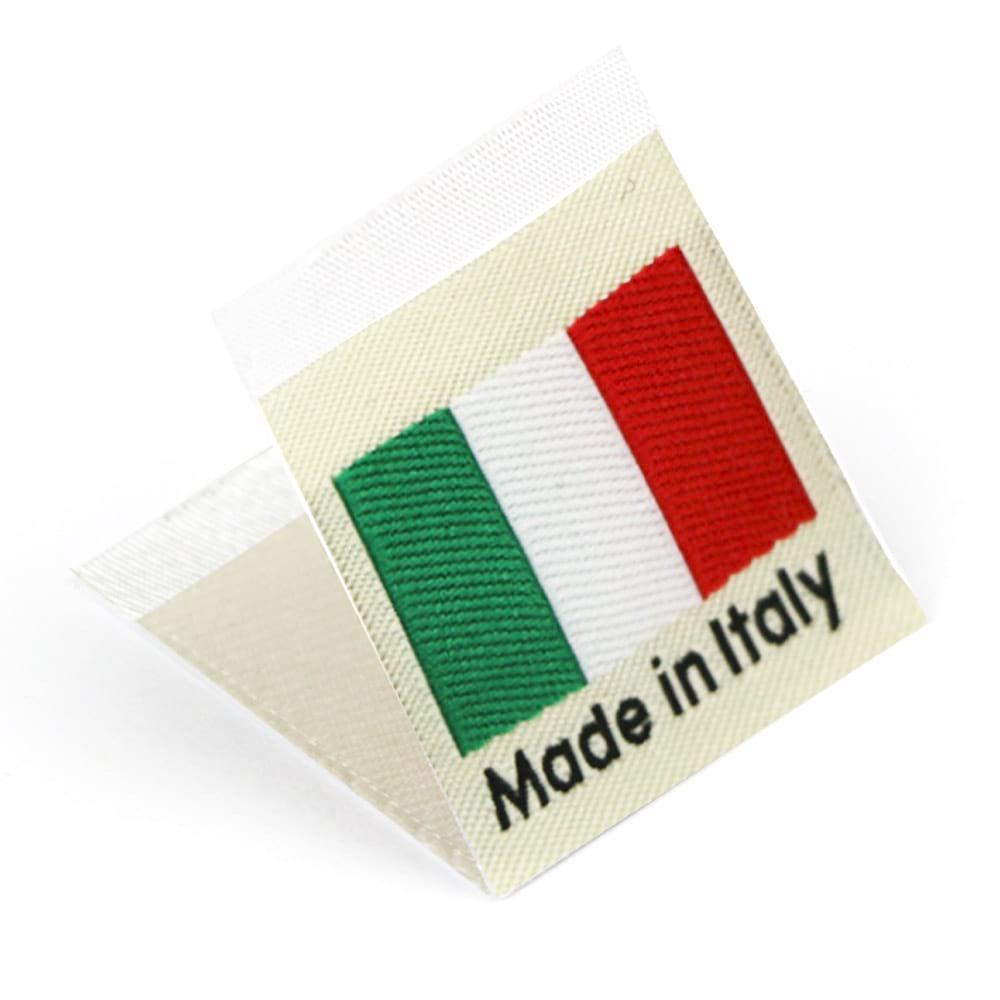 Gewebte Etiketten mit Flagge 'Made in Italy'