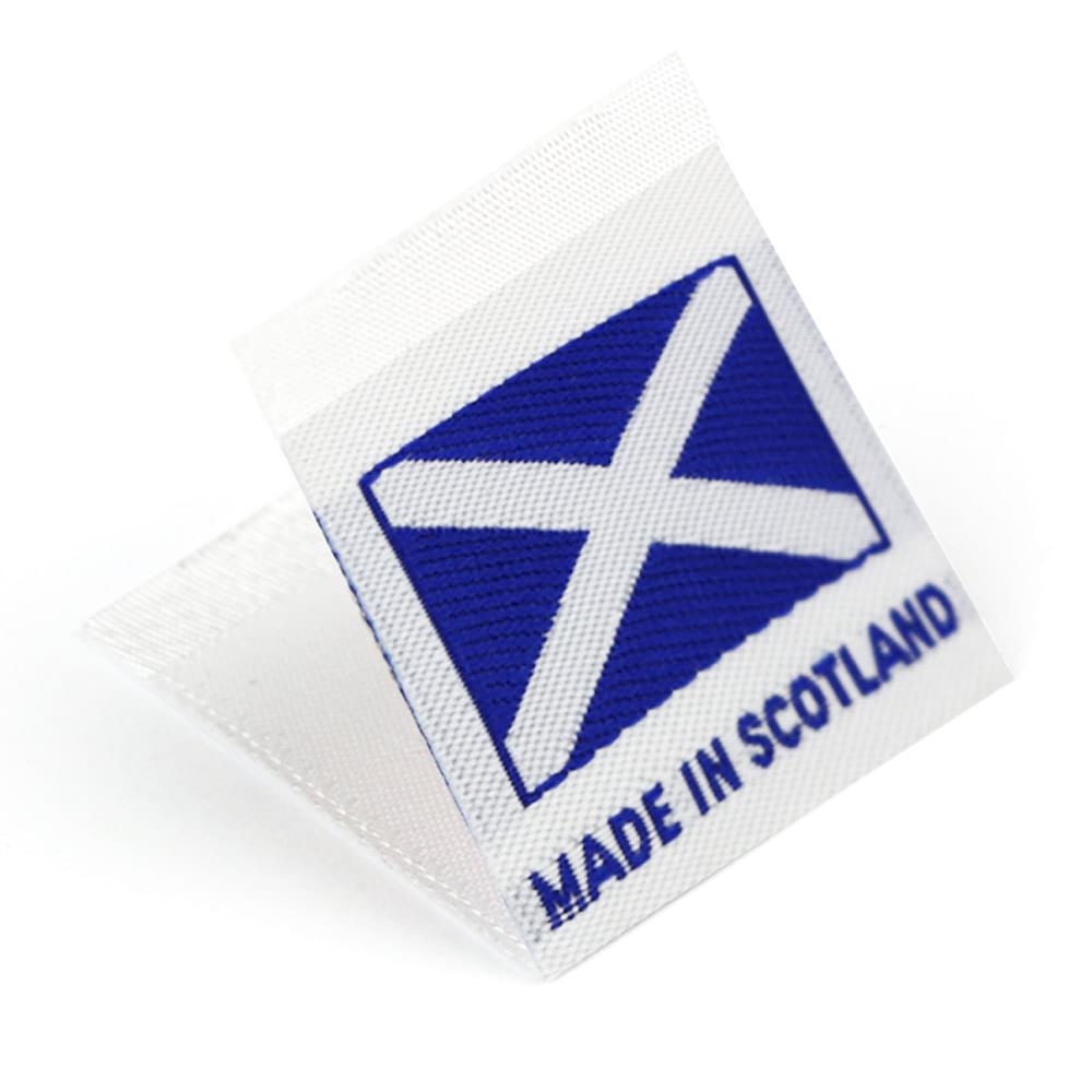 Gewebte Etiketten mit Flagge 'Made in Scotland'