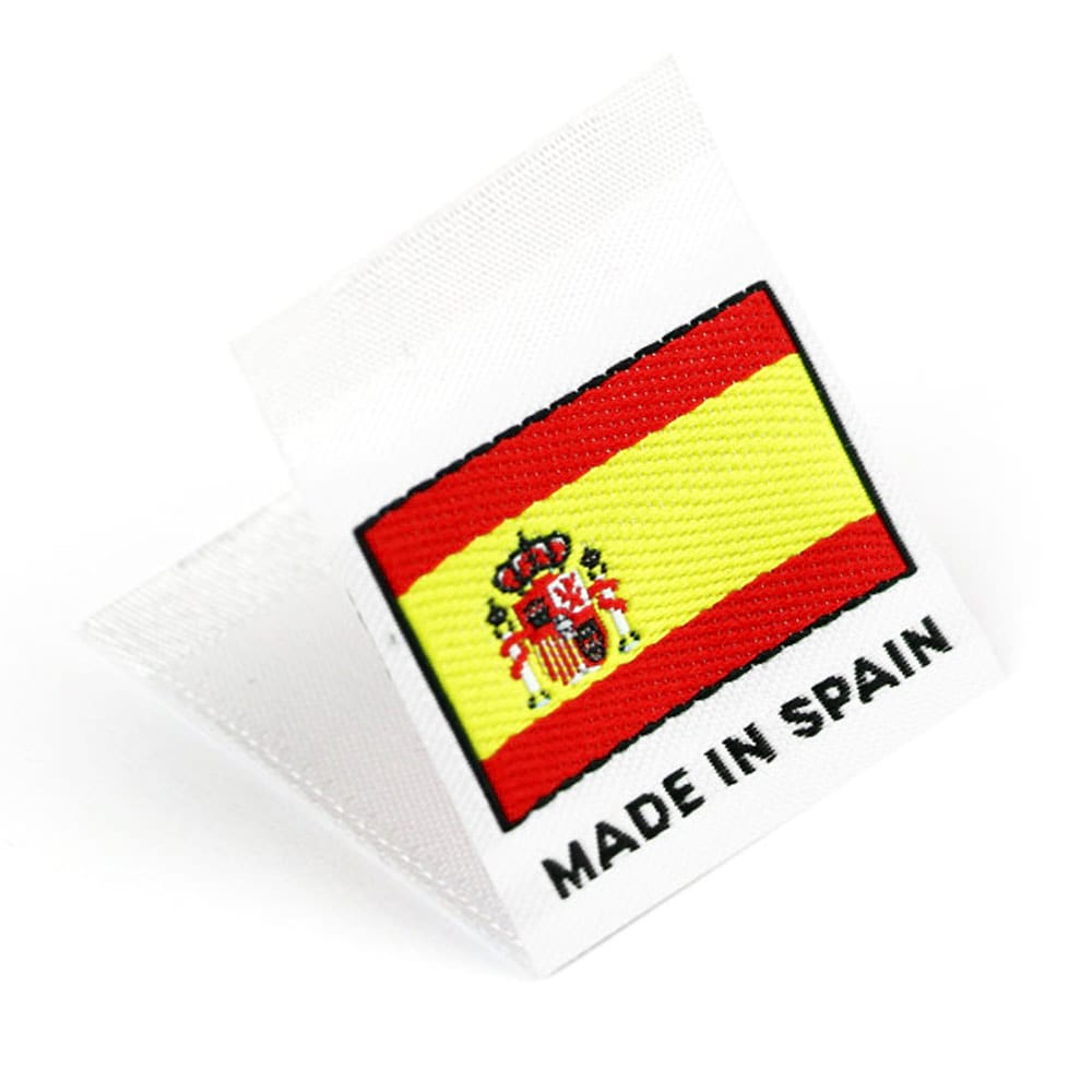 Gewebte Etiketten mit Flagge 'Made in Spain'