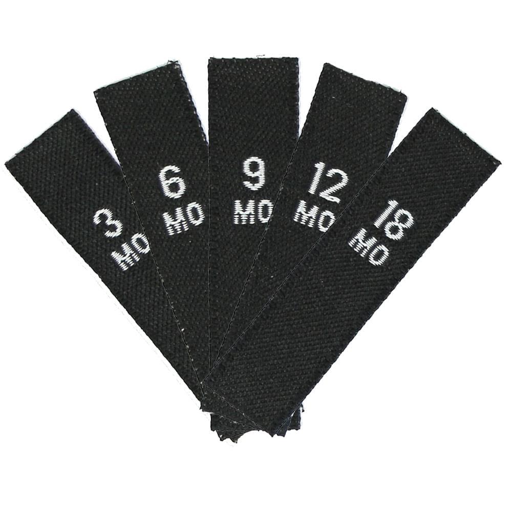 Größenset – Kindergrößen (3MO - 18MO) Schwarz
