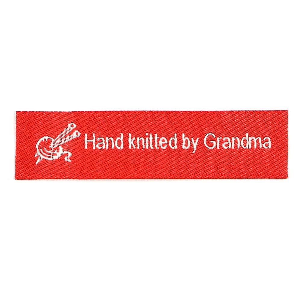 Webetiketten - Hand knitted by Grandma
