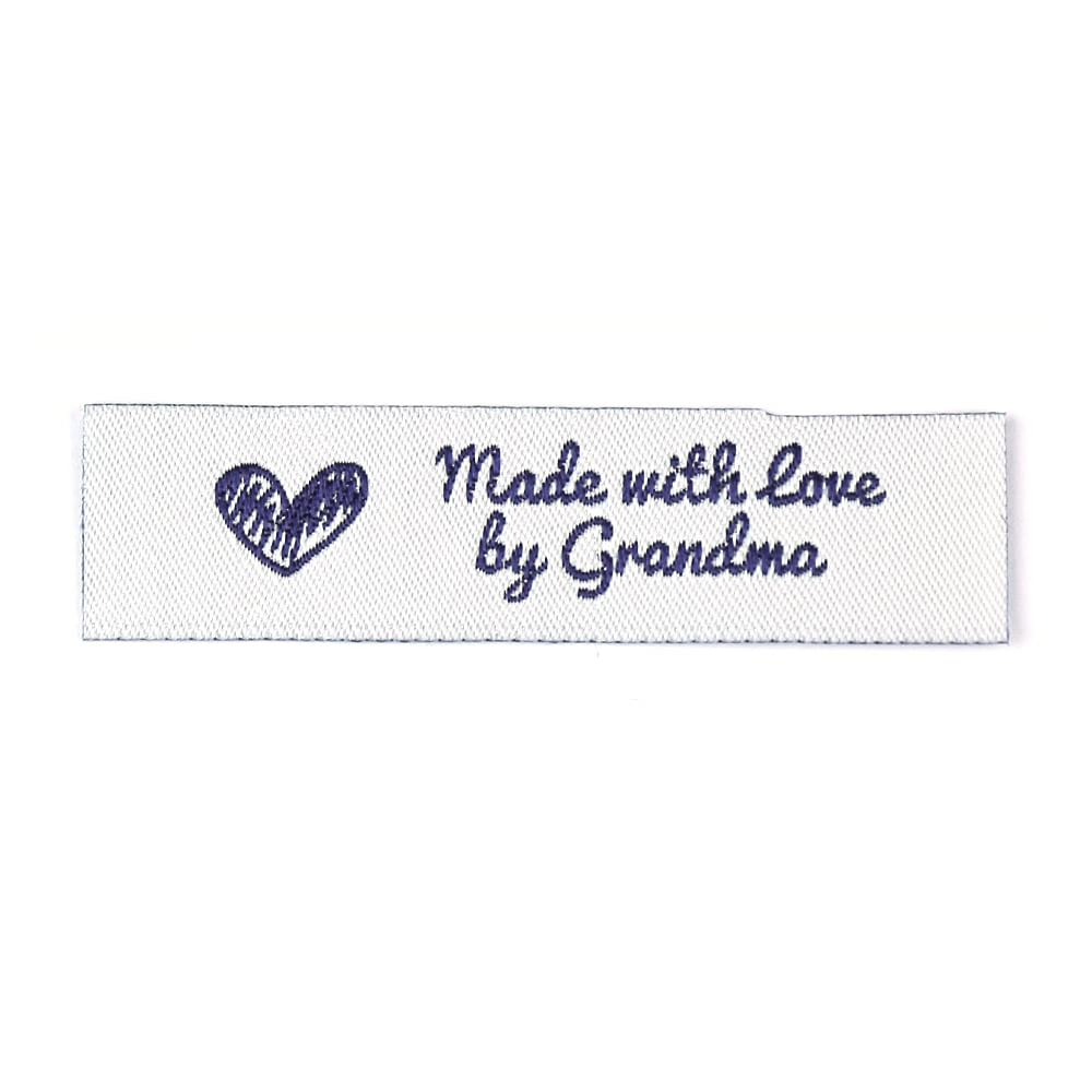 Webetiketten - Made with Love by Grandma – Standard