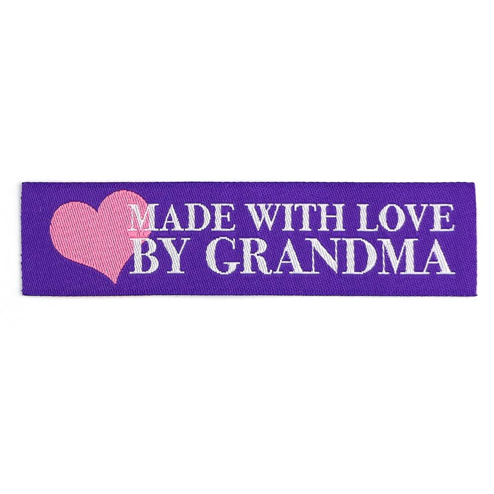 Webetiketten - Made with Love by Grandma – Lila