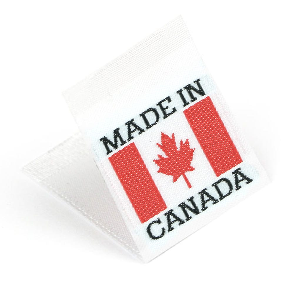 Gewebte Etiketten mit Flagge 'Made in Canada'