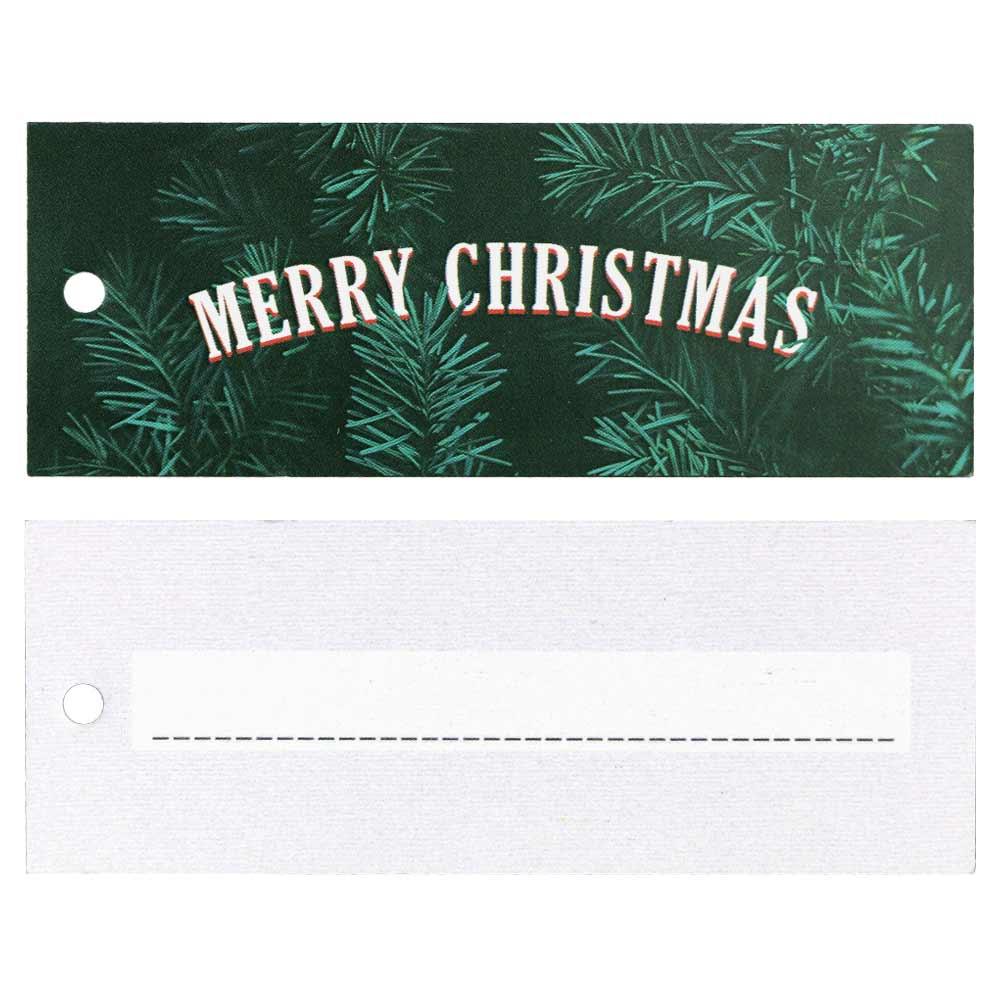 Weihnachtliche Hangtags - Merry Christmas mit Tannenzweigen
