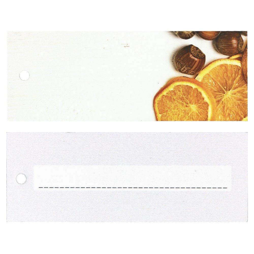Weihnachtliche Hangtags - Orangen und Haselnüsse