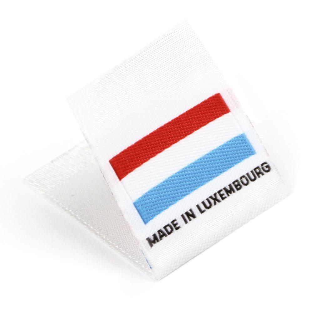 Gewebte Etiketten mit Flagge 'Made in Luxembourg'