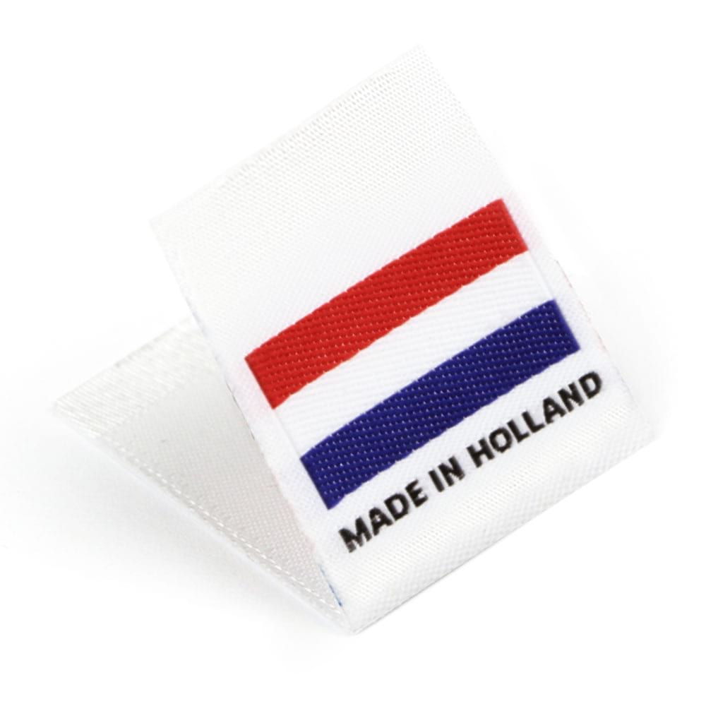 Gewebte Etiketten mit Flagge 'Made in Holland'