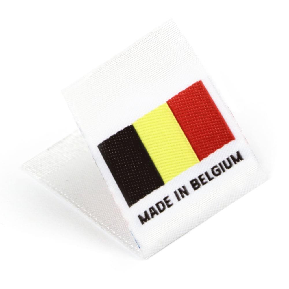Gewebte Etiketten mit Flagge 'Made in Belgium'